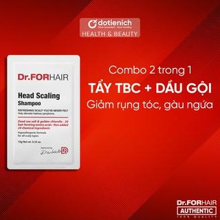Dầu gội, tẩy tế bào chết da đầu Dr.FORHAIR Head Scaling Shampoo 10g - 2 trong 1