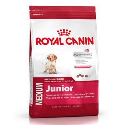 Thức ăn cho chó con dưới 1 năm tuổi giống vừa (MEDIUM JUNIOR 4kg)