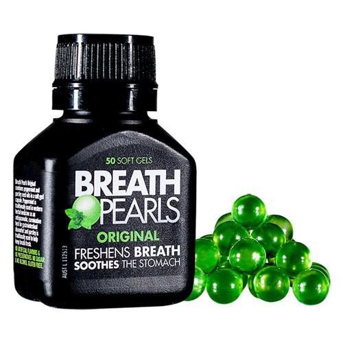 Viên Uống Hỗ Trợ Thơm Miệng Breath Pearls - Úc 50 Viên