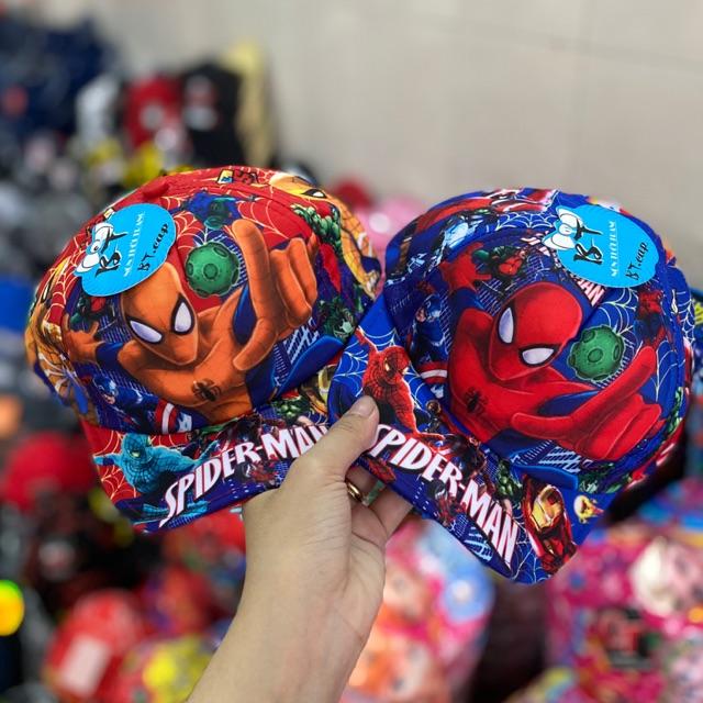 [ Bé dưới 1,5 tuổi ] Nón kết Spiderman in cho bé Trai