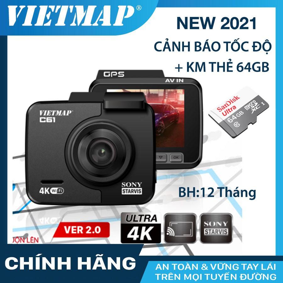 Camera hành trình VIETMAP C61 cho xe ô tô kèm thẻ nhớ