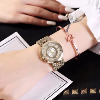Đồng hồ thép không gỉ đính đá sang trọng cho nữ