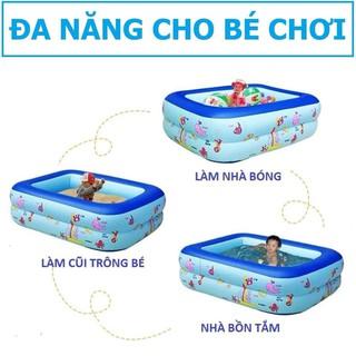BỂ BƠI PHAO BƠI CHỮ NHẬT 3 TẦNG 1,8M CHO 4 NGƯỜI-ĐẠI PHONG GIA DỤNG(DREAM SHOP)