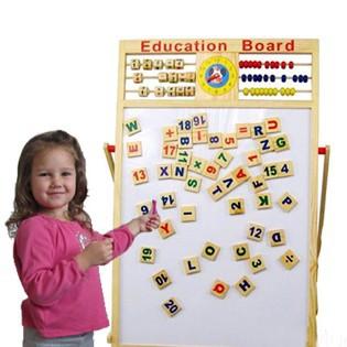 Bảng chữ số 2 mặt giúp bé thông minh