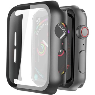 Apple Ốp Bảo Vệ Mặt Đồng Hồ Iwatch Series 6 / 5 / 4 / 3 / 2 / 1 9.5 Bằng Pc Cứng Siêu Mỏng Mặt Nhám Kèm Kính Cường Lực 38mm 40mm