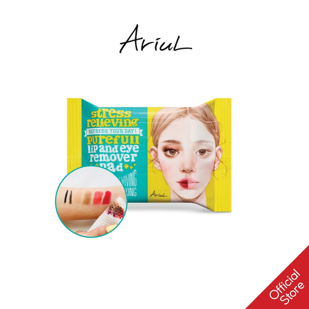 Khăn Giấy Tẩy Trang Mắt Môi Ariul Stress Relieving Purefull Lip & Eye Remover Pad (30 Miếng)