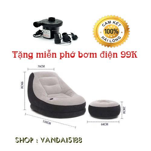 Ghế hơi intex [Tặng miễn phí bơm mini 99K] Nội thất phòng khách