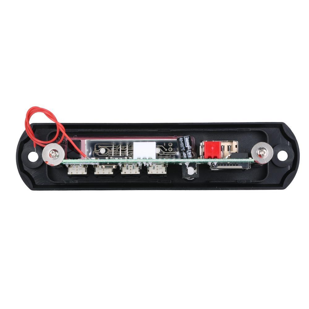 Wireless BT MP3 WMA Decoder Board Car Audio FM Radio Module with Aux in USB Port TF Card Slot Remote Control