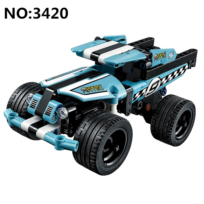 Stunt Truck Building Blocks Kids Technic Educational Toys Compatible with Lego Children Birthday Gift