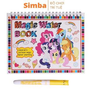 Tô màu bút nước thần kỳ đồ chơi Simbaba cho trẻ em 3-5 tuổi tập tô màu phiên bản mới 2021