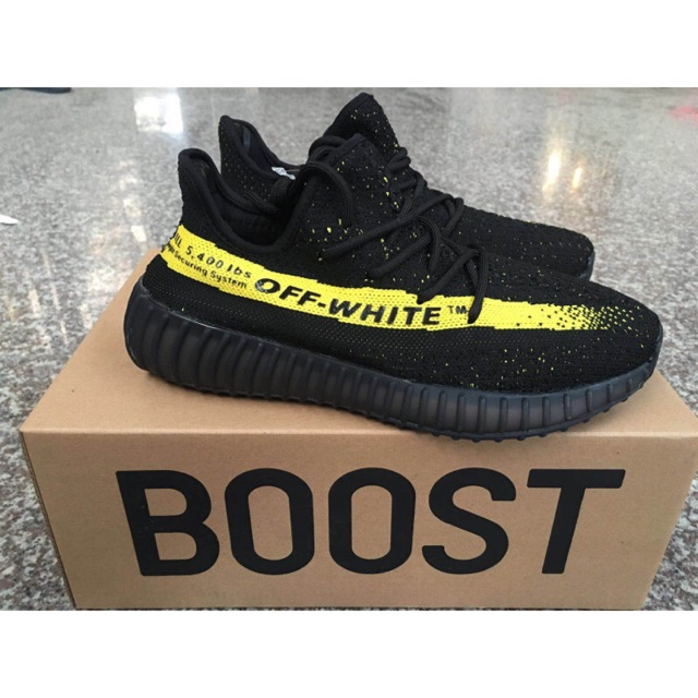 9a8fc084bed04 GIÀY Adidas Yeezy Boost SPLY - 350 V2 OFF-WHITE black yellow men shoes