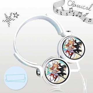 Tai nghe SWORD ART ONLINE thiết kế thông minh cá tính cắm dây có mic anime chibi