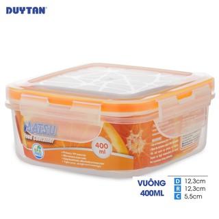 Hộp Nhựa Vuông Đựng Thực Phẩm Duy Tân Matsu dung tích 400ml (12.3 x 12.3 x 5.5 cm)
