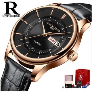 Đồng hồ nam Ontheedge dây da RZY029 fullbox (kèm 2 pin) thumbnail