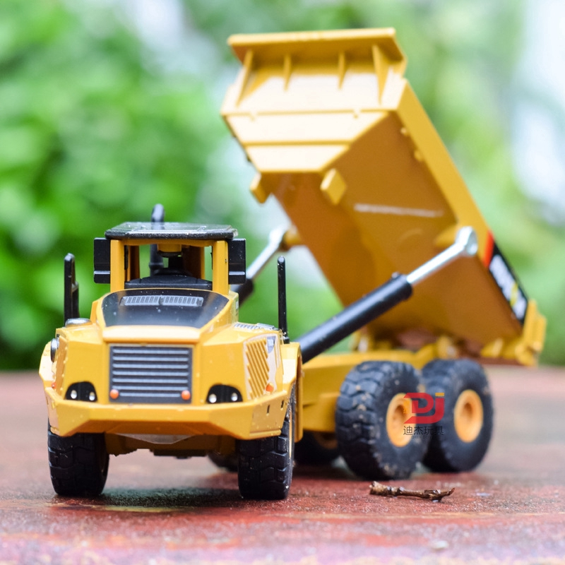 Children's Sliding Engineering Toy Car Simulation Dump Truck Model
