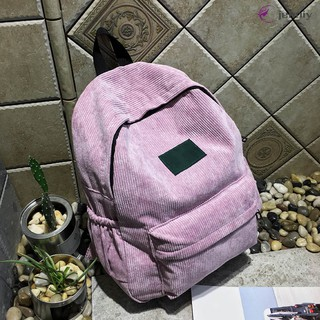 ✨JNY✨ Women Men Student Backpack Shoulder Bag Handbag Corduroy Vintage For School Travel