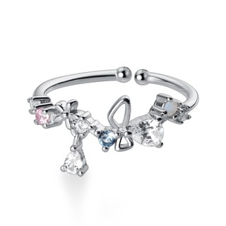 Nhẫn Bạc Nhẫn Nữ Bạc ITALY S925 Màu Trắng Bạc - N2489 - Bảo Ngọc Jewelry