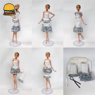 2pcs/set Modern Mini Dress + 2pcs Accessories DIY Clothes for 30CM Doll