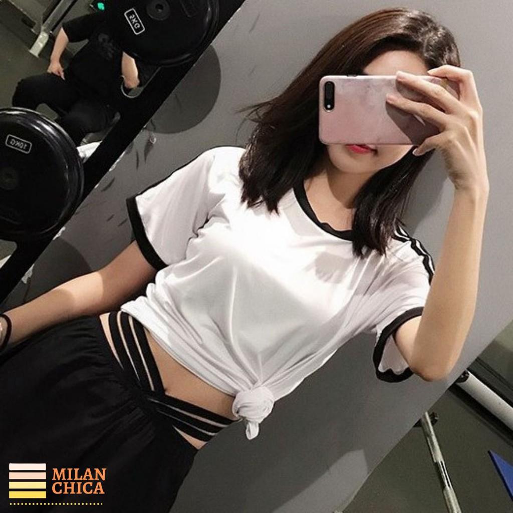 Áo thun phông ngắn thể thao nữ Triple (Đồ tập gym,yoga) - Cửa Hàng Việt Nam - Livan Sport