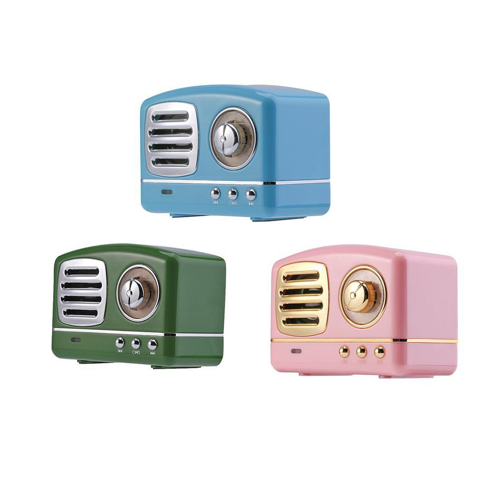Vintage Mini Bluetooth Speaker 3D Stereo Surround HiFi Sound Effect Player Giá chỉ 160.600₫