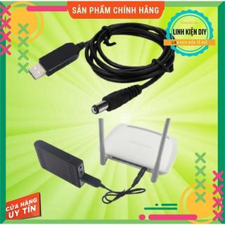 Dây Cáp Nguồn Usb 5v Sang 9v 12v chân 5,5mm 2.1mm dùng Wifi khi mất điện
