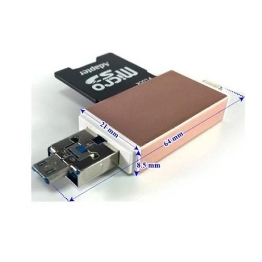Đầu đọc thẻ nhớ Adapter OTG MPK-OTG-FIVE dùng cho iOS - Android - PC- Macbook (Vàng đồng) - 2555681 , 224729877 , 322_224729877 , 314000 , Dau-doc-the-nho-Adapter-OTG-MPK-OTG-FIVE-dung-cho-iOS-Android-PC-Macbook-Vang-dong-322_224729877 , shopee.vn , Đầu đọc thẻ nhớ Adapter OTG MPK-OTG-FIVE dùng cho iOS - Android - PC- Macbook (Vàng đồng)