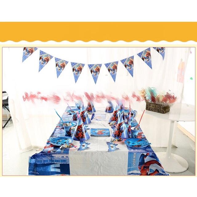 Set trang trí bàn tiệc elsa, người nhện