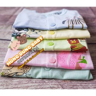 (16k/1 áo)Set 5 Áo Carter sơ sinh ( cotton 100% co danz 2 chiều ) Sale off
