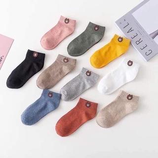 Hình ảnh Tất nữ cotton kiểu Vintage Hàn Quốc vớ co giãn kháng khuẩn Rosara B21-0