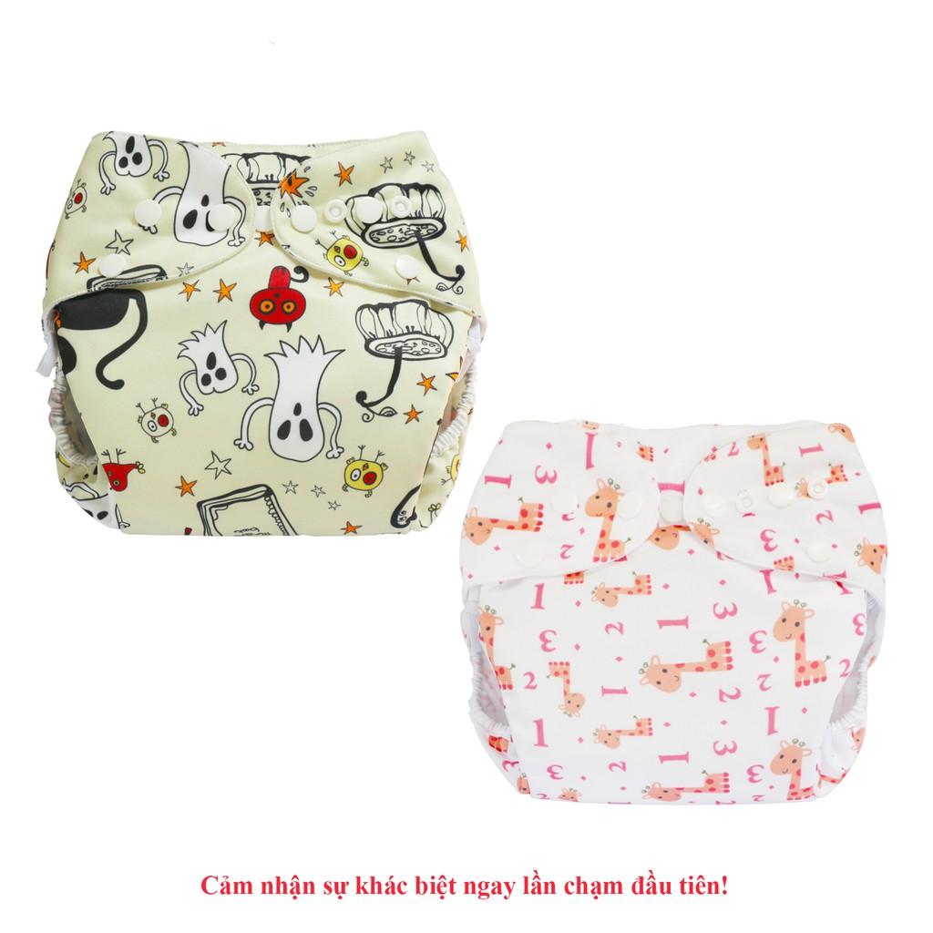 Combo 2 bộ tã vải Ngày Siêu chống tràn BabyCute size S, M, L - Giao mẫu ngẫu