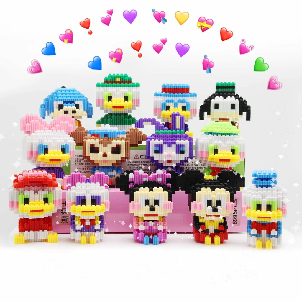【happylife】Particle building block miniature assembling toy is compatible with Lego girl male diamond particle puzzle adult children