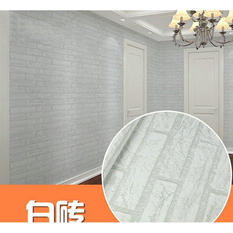 Decal giấy dán tường đá trắng GDT098 khổ 45 cm
