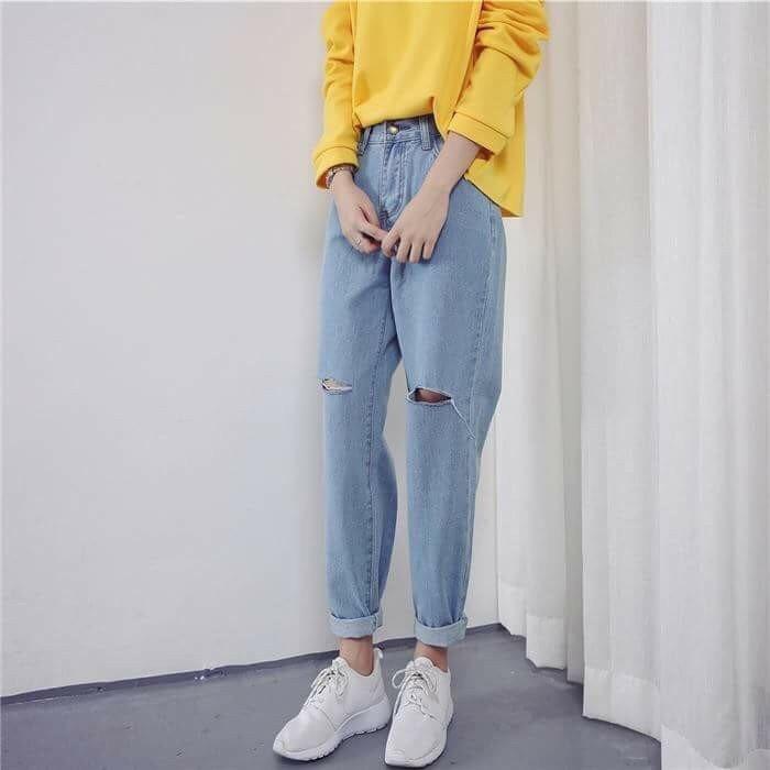 quần jean baggy nữ, Quần Jean Baggy nữ là gì? TÌM HIỂU về kiểu quần CÁ TÍNH của bạn trẻ