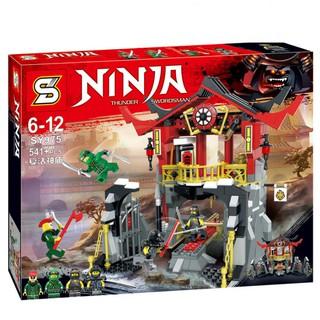 Lego mô hình cuộc chiến hồi sinh đền thiêng chiến binh Ninjago Movie
