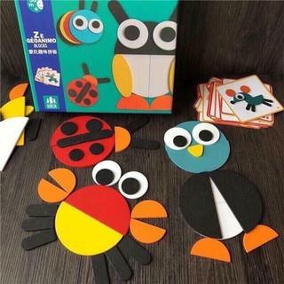 Bộ ghép hình khối sáng tạo Montessori Fun board