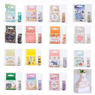 BS 1PC Christmas Crafts Gifts Floral Roll Paper Masking Adhesive Cartoon Car Laptop Stickers