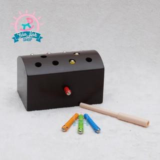 [Nhập TOYHAPPY Giảm 10%] Câu sâu bằng gỗ| Đồ chơi gỗ an toàn