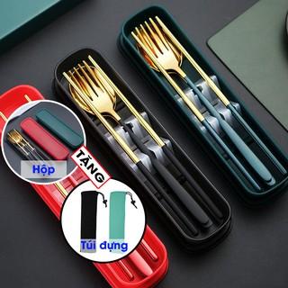 Đũa thìa và nĩa, set sản phẩm cá nhân, chất liệu Inox 304 dày dặn sáng bóng