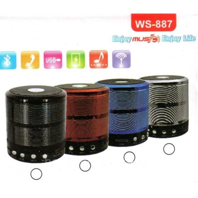 Loa Bluetooth USB thẻ nhớ WS-887