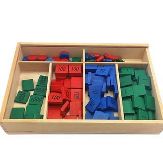 Hộp trò chơi tem số giao cụ montessori đồ chơi giáo dục
