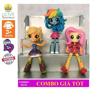 My Little Pony – bộ 3 búp bê FLUTTERSHY, RAINBOW DASH & APPLE JACK