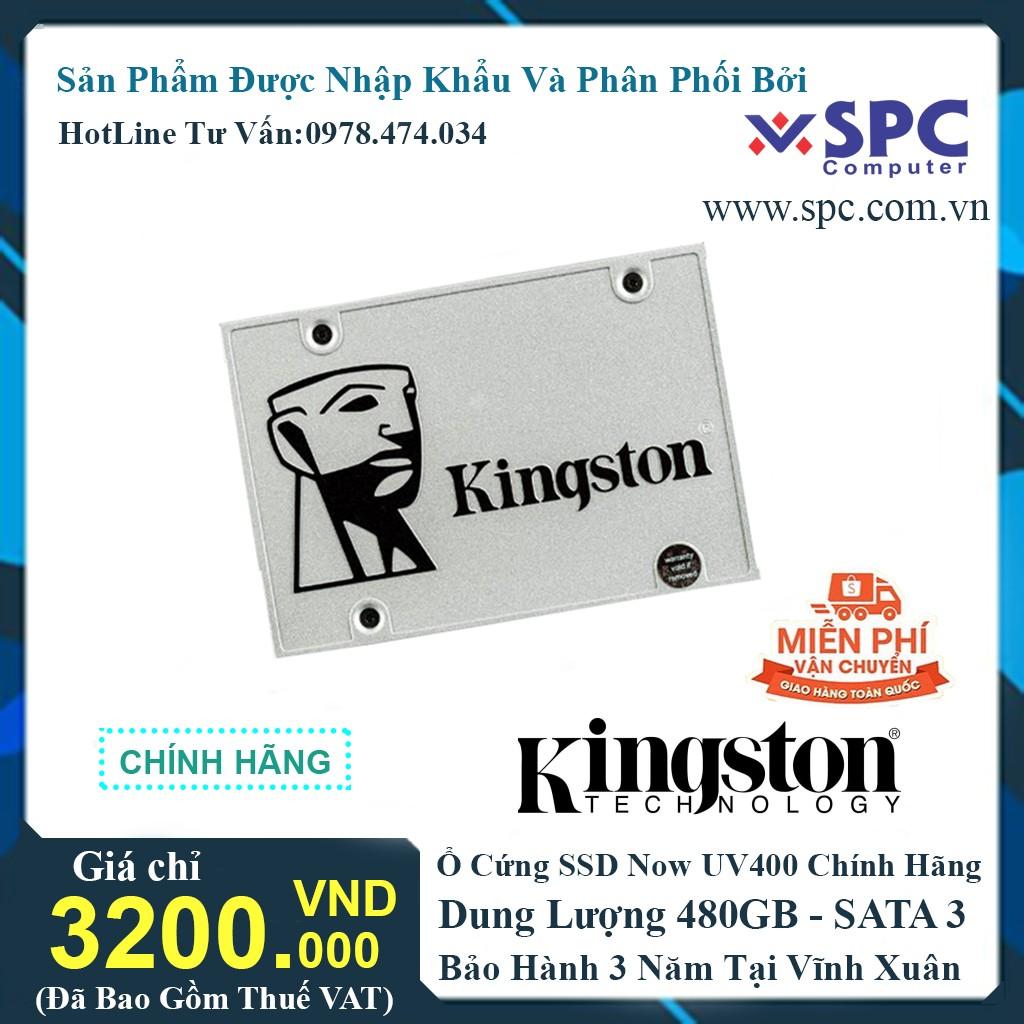 Ổ CỨNG SSD KINGSTON 480GB - UV400 - SATA 3 - Chính Hãng