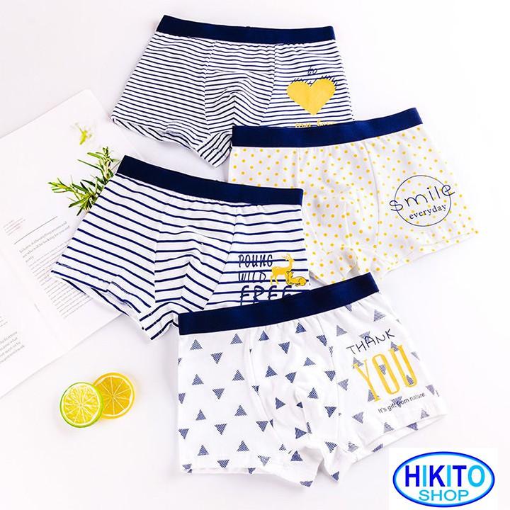 Quần lót bé trai 4 quần cao cấp HIKITO 003