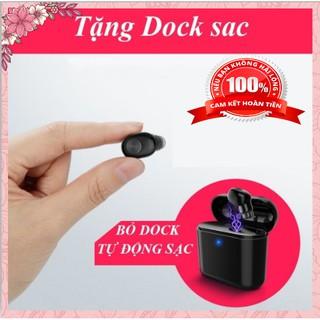 Tai Nghe Không Dây, Tai Nghe Bluetooth Mini T1 Có Dock Sạc, Kiêm sạc dự phòng Pin Cực Trâu Cực đẹp, Hiện Đại