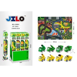 Bộ Đồ Chơi Bản Đồ Xe Cảnh Sát – Xe Tải chuyên dụng Jilo