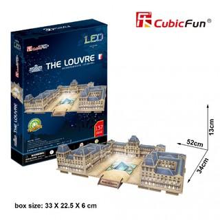 Mô hình giấy 3D CubicFun – Led thư viện Pháp – The Louvre – (L517h)