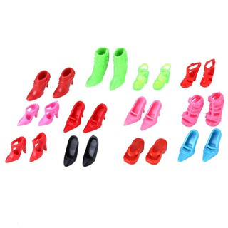 12 Pairs Fashion Doll High Heel Shoes Sandals for Girls Doll