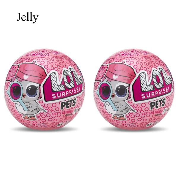 2 Pcs Surprise Doll Egg Ball with Light Toy Kids Christmas Birthday Gift J814