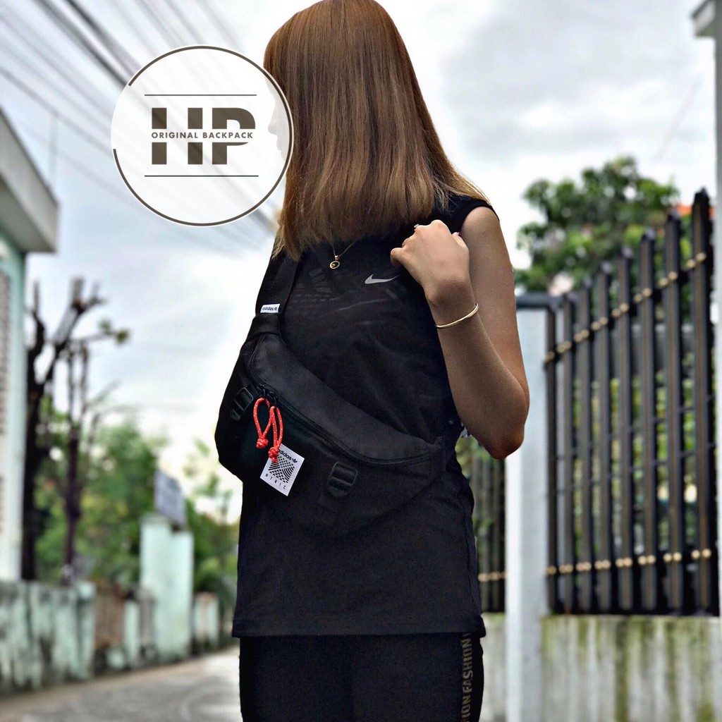 Túi Đeo Chéo Nam Nữ Thời Trang BumBag Black DH3261 - ST1814 (Hàng Xịn) - Có bán sỉ