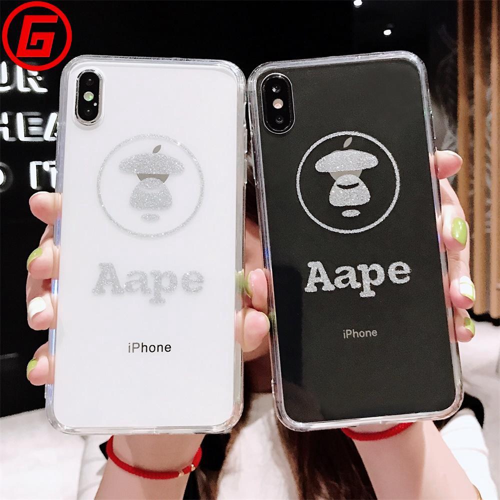 Aape XR X/XS phone case IPhone TPU Transparent 7Plus Cover soft 7/8 XS MAX
